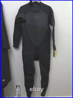 New with Tags ONEILL XXL (2XL) Heat 3/4 Zip Full Wetsuit 4/3mm Style #3859, Black