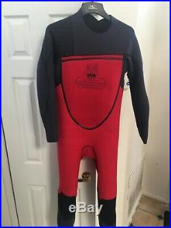 O'NEILL MENS PSYCHO-TECH1+FUZE 4/3MM CHEST ZIP FULL WETSUIT/BLACK/NEWith LRG