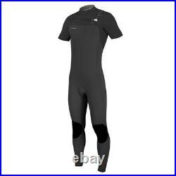 O'Neill Hyperfreak 2MM Chest Zip Men's Short Sleeve Full Wetsuit (Black/Black)