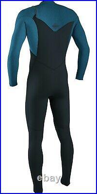 O'Neill Hyperfreak 4/3 + Mens Winter Wetsuit Chest Zip Full Gun/Blu (XL)
