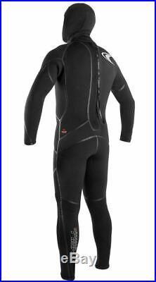 O'Neill Men's Dive J-Type 7mm Back Zip Full Wetsuit Hood Black Large Short LS