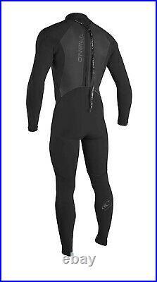 O'Neill Men's Epic 3/2mm Back Zip Full Wetsuit, MT Medium Tal