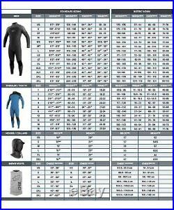 O'Neill Men's Epic 4/3mm Back Zip Full Wetsuit Black/Black/Black Medium