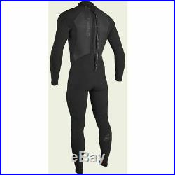 O'Neill Men's Epic 4/3mm Back Zip Full Wetsuit, Black, Medium