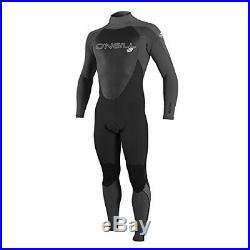 O'Neill Men's Epic 4/3mm Back Zip Full Wetsuit, Black/Oil/Smoke, Small