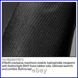 O'Neill Men's Heat 3/2mm Back Zip Full Wetsuit Black/Black L