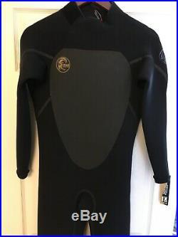 O'Neill Men's Heat 4/3mm Back Zip Full Wetsuit Black Medium