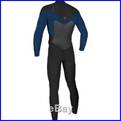 O'Neill Men's O'Riginal 3/2 mm Chest Zip Full Wetsuit, Black/Deepsea, Large