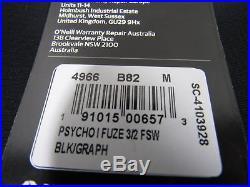 O'Neill Men's Psycho One Chest Zip Full Wetsuit, Medium 4966-b82-m