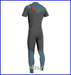 O'Neill Mens 2 mm Hyperfreak F. U. Z. E. Zip Short Sleeve Full Wetsuit