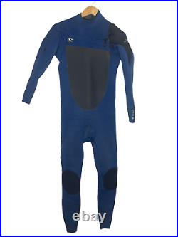 O'Neill Mens Full Wetsuit Size MT (Medium Tall) Super Freak 4/3 Chest Zip Blue
