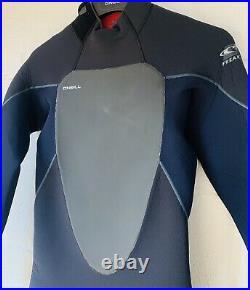 O'Neill PsychoFreak 5/4 Winter Wetsuit Zen Zip Full Mens Medium Black/Abyss