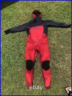 O'Neill Psycho Tech 5.5/4mm Hooded Chest-Zip Full Wetsuit Men's Size XLS