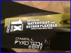O'Neill Pyrotech Techno FZ 3/2 Full Wetsuit Black Blue Small
