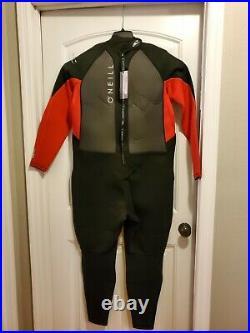 O'Neill Reactor 2 Men's 3/2 BZ Full Wetsuit 4XLS Black/red/Black (5283IS)