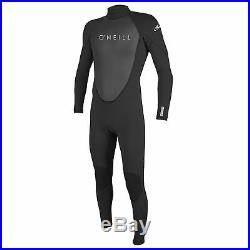 O'Neill Reactor II 3/2 MM Thick Back Zip Full Body Wetsuit, Size X Large, Black