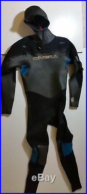 O'Neill Surfing/Diving 4/3 mm XS-4D Men's Full suit with Hood Size MT NEW (Read)