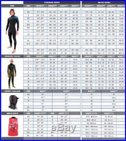 O'Neill Wetsuits Mens 2 mm Hyperfreak FUZE Zip Full Wetsuit, Medium Tall SALE