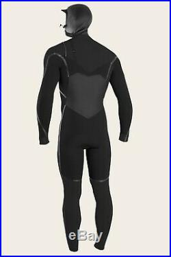 O'neill Men's Psycho Tech Wetsuit Fuze 5.5/4mm Chest Zip Full Hood Large Short