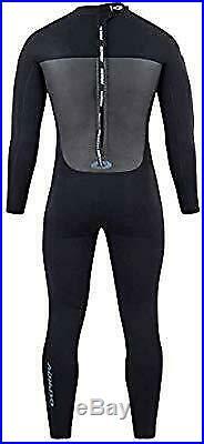 Osprey Men's Full Length 5 mm Winter Wetsuit, Surfing Wetsuit, Black, M