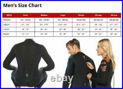 Phantom Waterman 7mm Men's Wetsuit, Stealth SuperFlex Stretch Neoprene Full Suit