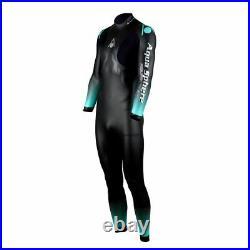 Phelps Mens Aquaskin 2.0 Full Suit UV Neoprene Wetsuit Black/Turquoise