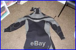 Pinnacle Polar Hooded Full Scuba Diving Wetsuit Men's Black\GRAY Merino XLARGE