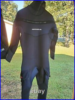 Pinnacle Polar M8 Hooded Full Scuba Diving Wetsuit Men's Black Merino size XL
