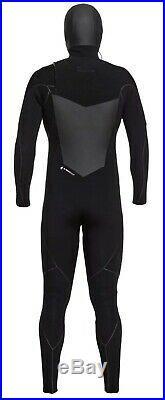 Quiksilver 6/5/4mm Highline Plus Chest Zip Hooded Men Full Wetsuits, Medium Tall