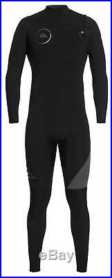 Quiksilver Men's Syncro Series 4/3mm Chest Zip Full Wetsuit Jet Black New