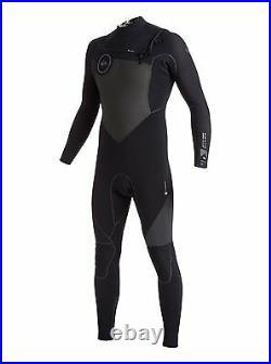 Quiksilver Mens L LG Highline 2X Bonded 3.5/3mm Chest Zip Full Wetsuit Chest Zip