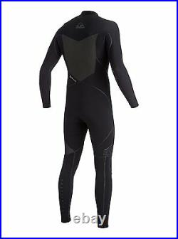 Quiksilver Mens S 4.5/4mm Highline 2x Bonded Chest Zip Full Wetsuit ANTHRACITE