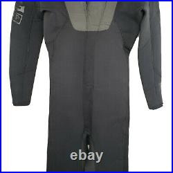 Quiksilver Mens Syncro 4/3 Full Wetsuit Sz L Large Black Hyperstretch Back Zip