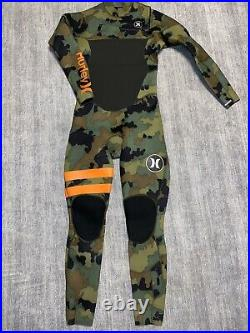 RARE Hurley Mens Full Wetsuit Size 16 Boys/ Mens S Camo 403 X Fusion