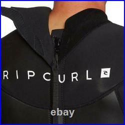 RIP CURL Mens Omega 3/2 Back Zip Full Wetsuit Surfing Watersports Black