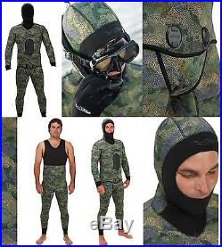 Riffe Yamamoto 7mm Cryptic Camo Wet Suit 2 piece full body Spearfishing S48