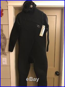 Rip Curl Dawn Patrol 5/4 Mens Full Suit, Hood And Chest Zip 2XL NWT