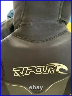 Rip Curl Flashbomb 6/5/4 6mm Hooded Full Suit Winter Wetsuit S Small Steamer Men