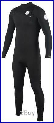 Rip Curl Men's Aggrolite 4/3mm Chest Zip Full Wetsuit Black New