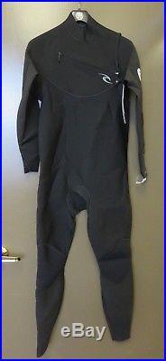 Rip Curl Men's Dawn Patrol 3/2mm Chest Zip Full Wetsuit Black XL Wet Suit