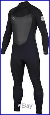 Rip Curl Men's Dawn Patrol 4/3mm Back Zip Full Wetsuit Black New