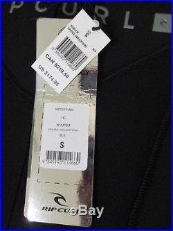 Rip Curl Men's Dawn Patrol 4/3mm Full Suit Back Zip Wetsuit Black S Small NWT