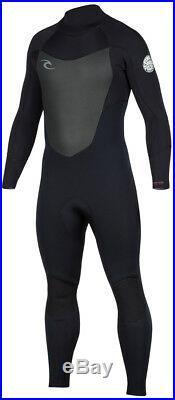 Rip Curl Men's Dawn Patrol 5/3mm Back Zip Full Wetsuit Black New