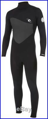 Rip Curl Men's Omega 3/2mm Back Zip Full Wetsuit Black New