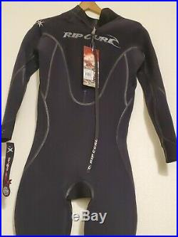 Rip Curl Mens Full Wetsuit Size LS F-Bomb Pro 4/3 Sealed BACK ZIP