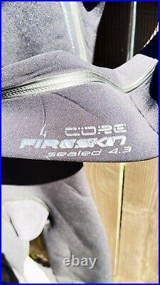 Rip Curl Mens Full Wetsuit Size Medium Tall MT Core Fireskin 4/3 Black Back Zip
