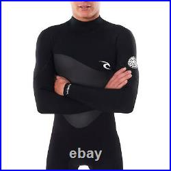 Rip Curl Mens Omega 5/3mm GBS Back Zip Steamer Full Length Winter Wetsuit