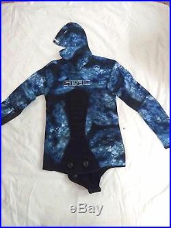 Seac Kobra Ocean Camo 2mm Spearfishing, Diving, Skindiving Full Wetsuit Neoprene