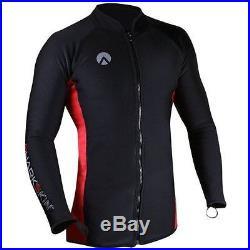 Sharkskin Mens Chillproof Long Sleeve Rashguard with Full Zipper