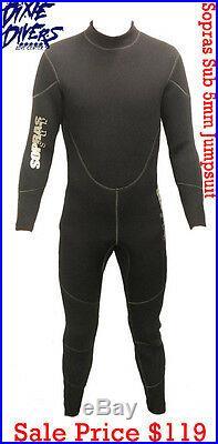 Sopras Sub 5mm Freddo Jumpsuit Wetsuit Scuba Diving Size L Dive Full Suit New
